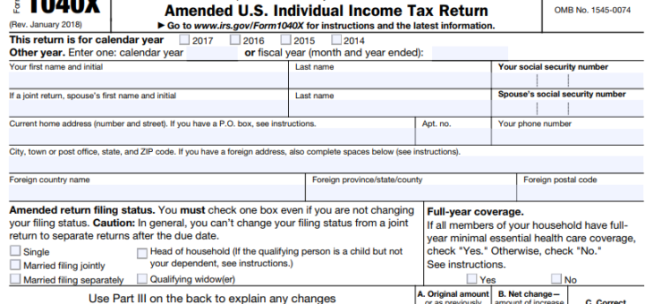What taxpayers should know about amending a tax return