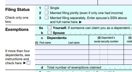 Did Your Filing Status Change This Year?