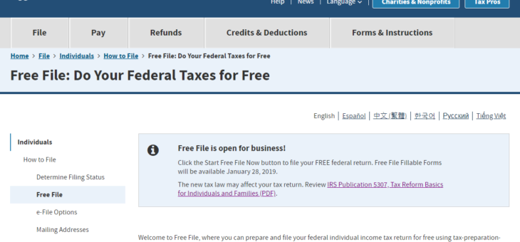 Navigate the new tax law provisions with IRS Free File!