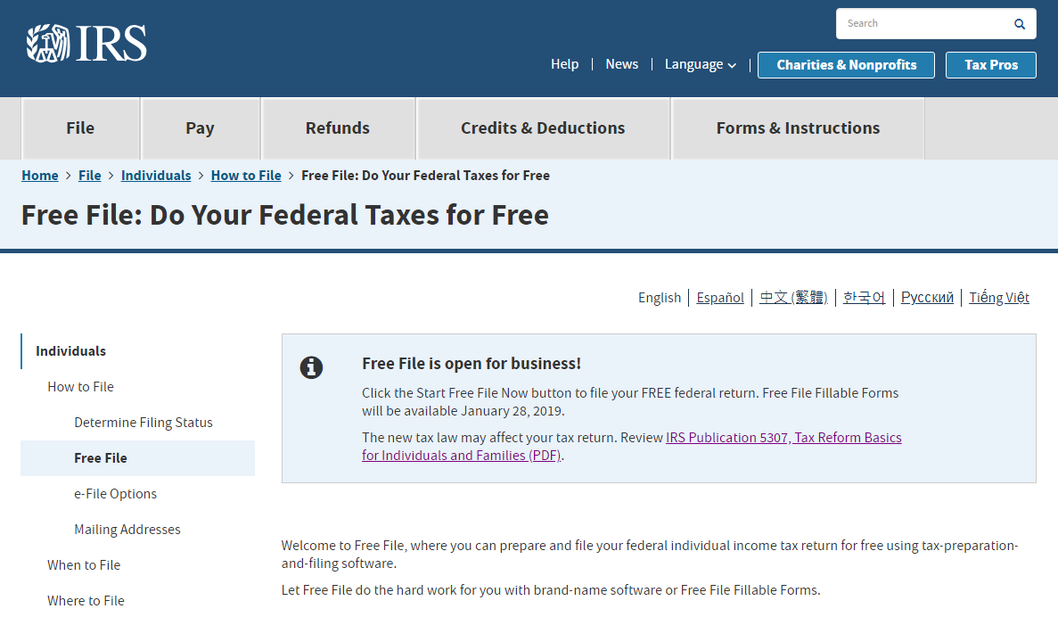 Navigate the new tax law provisions with IRS Free File! | Jim Floyd